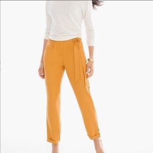 NWT Textured Soft Utility Ankle Pant Burnt Yellow